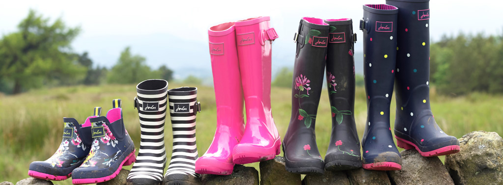 An image of Joules wellington boots